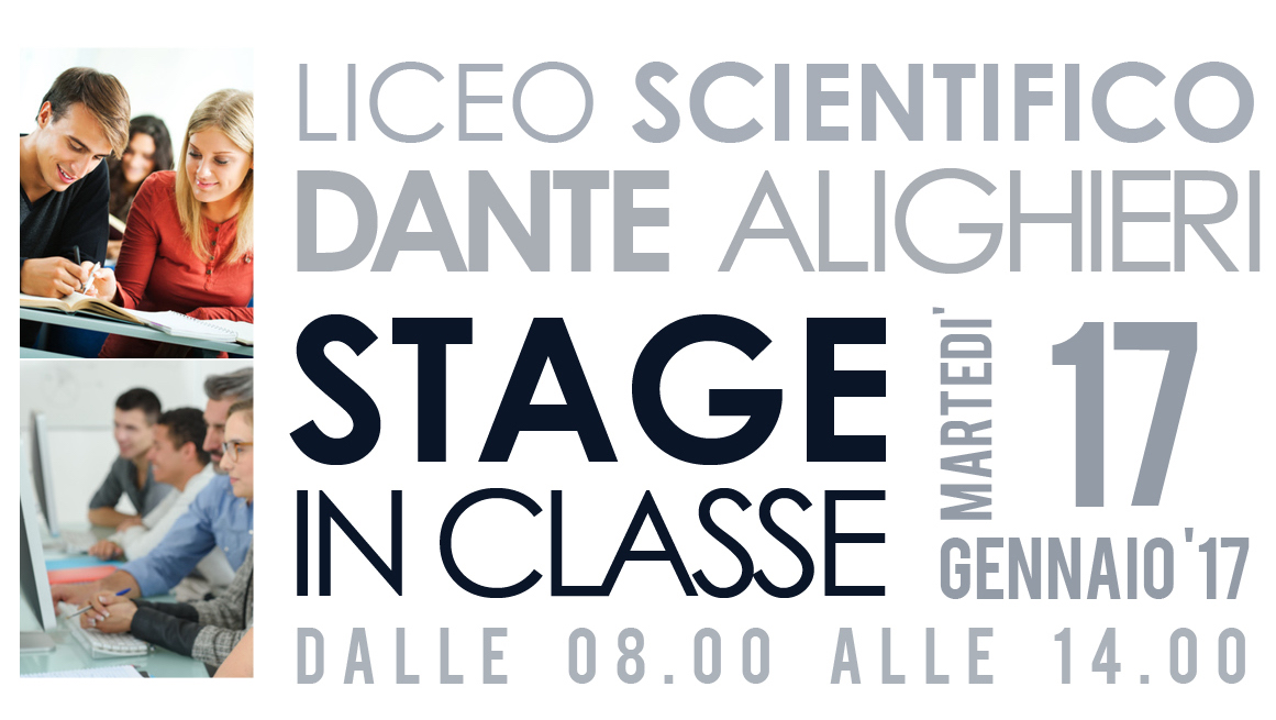 Nuova Data Stage Al Liceo Scientifico Dante Alighieri